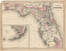 Southeast Map By Samuel Augustus Mitchell Jr. / William Bradley
