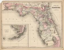 Southeast Map By Samuel Augustus Mitchell Jr. / William Bradley