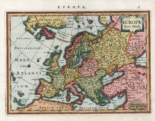 Europe and Europe Map By Jodocus Hondius / Gerard Mercator