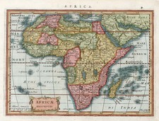 Africa and Africa Map By Jodocus Hondius / Gerard Mercator