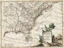 United States and Canada Map By Antonio Zatta