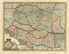 Europe, Hungary, Romania and Balkans Map By Adam Friedrich Zurner / Johann Christoph Weigel
