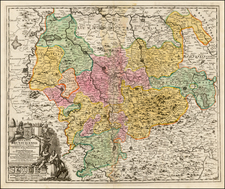 Germany Map By Johann Baptist Homann