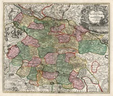 Europe and Germany Map By Johann Baptist Homann