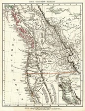 California and Canada Map By Carl Flemming