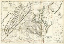 Mid-Atlantic and Southeast Map By Georges Louis Le Rouge