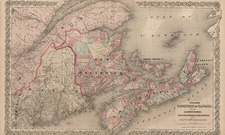 Canada Map By G.W.  & C.B. Colton