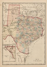 Texas Map By H.H. Lloyd