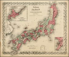 Asia and Japan Map By Joseph Hutchins Colton