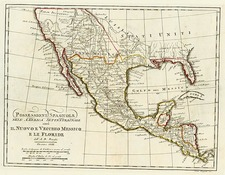 Texas, Southwest, Mexico and California Map By A.B. Borghi