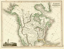 North America Map By John Wyld