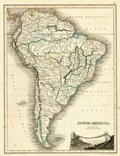 South America Map By John Wyld