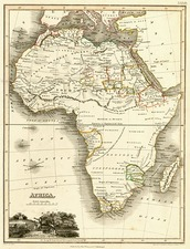 Africa and Africa Map By John Wyld