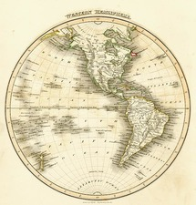 World, Western Hemisphere, South America and America Map By John Wyld