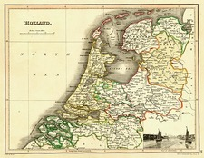 Europe and Netherlands Map By John Wyld