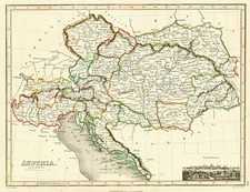 Europe, Austria, Poland and Hungary Map By John Wyld