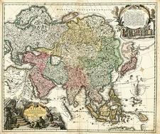 Asia, Asia, Australia & Oceania, Australia and Oceania Map By Johann Baptist Homann