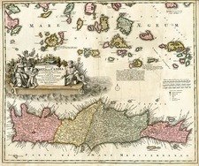 Europe, Greece, Mediterranean and Balearic Islands Map By Johann Baptist Homann