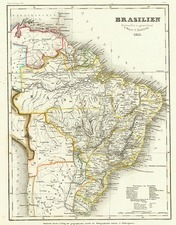 South America Map By Joseph Meyer