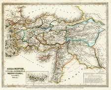 Europe, Mediterranean, Asia, Middle East and Turkey & Asia Minor Map By Joseph Meyer