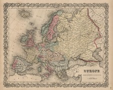 Europe and Europe Map By Joseph Hutchins Colton