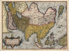 Asia, Asia, Australia & Oceania and Oceania Map By Abraham Ortelius