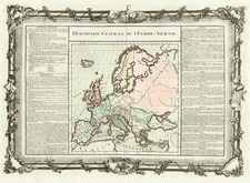 Europe and Europe Map By Buy de Mornas