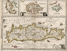Europe, Greece and Balearic Islands Map By Matthaus Merian