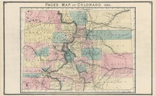 Rocky Mountains Map By H.R. Page