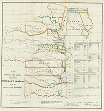 South, Midwest and Plains Map By Washington Hood