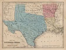 South, Texas and Plains Map By Samuel Augustus Mitchell