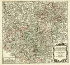 Europe, France and Germany Map By Gilles Robert de Vaugondy