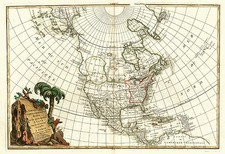 North America and Mexico Map By Jean Janvier