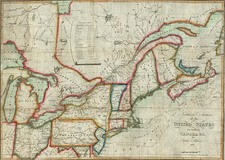 New England, Mid-Atlantic and Midwest Map By John Melish