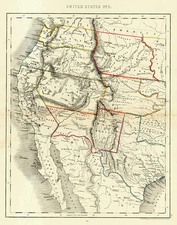 Southwest, Rocky Mountains and California Map By John Dower