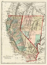 California Map By J. David Williams