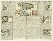 New England, Mid-Atlantic, Southeast and Caribbean Map By Henri Chatelain