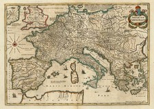 Europe, Europe, Italy, Mediterranean and Greece Map By Jan Jansson