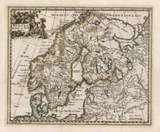 Europe and Scandinavia Map By Philipp Clüver
