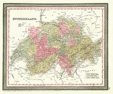 Europe and Switzerland Map By Thomas, Cowperthwait & Co.