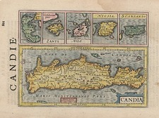 Europe, Mediterranean, Balearic Islands and Greece Map By Henricus Hondius - Gerhard Mercator