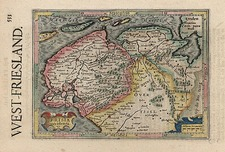 Europe, Netherlands and Germany Map By Henricus Hondius - Gerhard Mercator