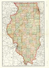 Midwest Map By Rand McNally & Company