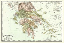 Europe, Greece and Balearic Islands Map By Rand McNally & Company