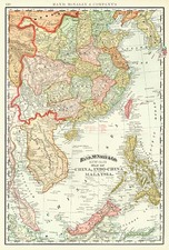 Asia, China, Southeast Asia and Philippines Map By Rand McNally & Company