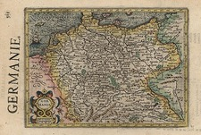 Europe and Germany Map By Henricus Hondius - Gerhard Mercator