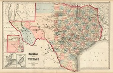 Texas Map By O.W. Gray