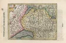 Europe, Switzerland and France Map By Henricus Hondius - Gerhard Mercator