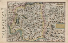 Europe, Switzerland, France and Italy Map By Henricus Hondius - Gerhard Mercator