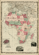 Africa and Africa Map By Benjamin P Ward  &  Alvin Jewett Johnson